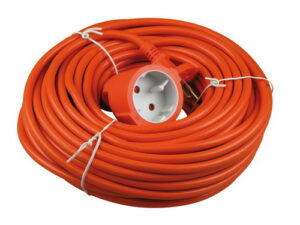 Verlengkabel 20 mtr 2x1 mm oranje