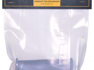 Handvat 30 mm rond grijs (set verpakt)