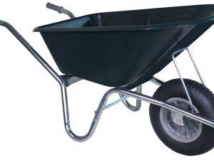 Kruiwagen PE groen 160 ltr 1 wiel