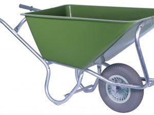 Kruiwagen HUMMER PE groen 160L 1-wiel SW