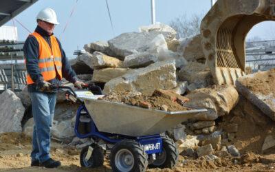 Groene sector vakbeurs met Zallys accukruiwagens